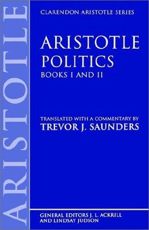 Politics: Books I and II 9780198248941