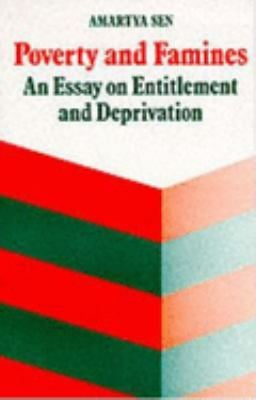 Poverty and Famines: An Essay on Entitlement and Deprivation 9780198284635