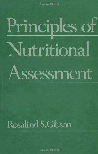Principles of Nutritional Assessment 9780195058383