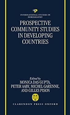 Prospective Community Studies in Developing Countries 9780198292098