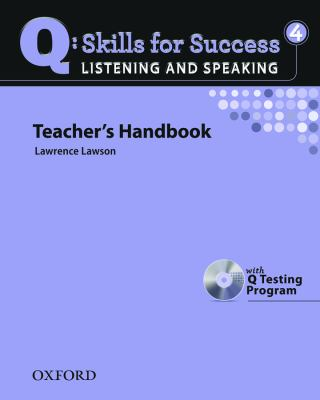 Q: Skills for Success: Listening and Speaking 4 Teacher's Handbook [With CDROM] 9780194756181