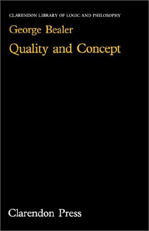 Quality and Concept 9780198244288