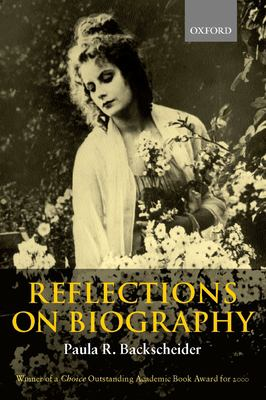 Reflections on Biography 9780198299950