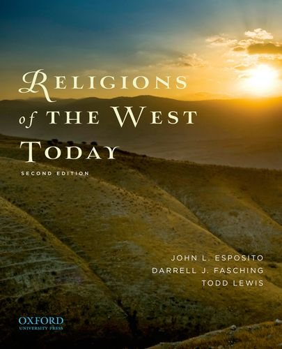 Religions of the West Today 9780199759507