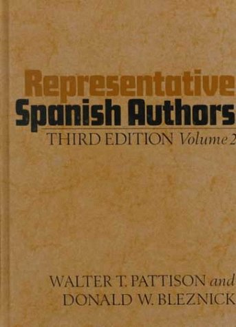 Representative Spanish Authors: Volume II 9780195014334