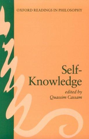 Self-Knowledge 9780198751168