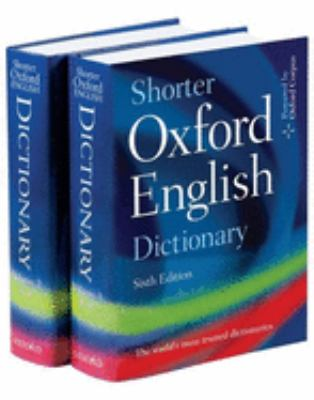 Shorter Oxford English Dictionary [With CDROM] 9780199233243
