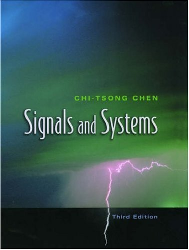 Signals and Systems 9780195156614