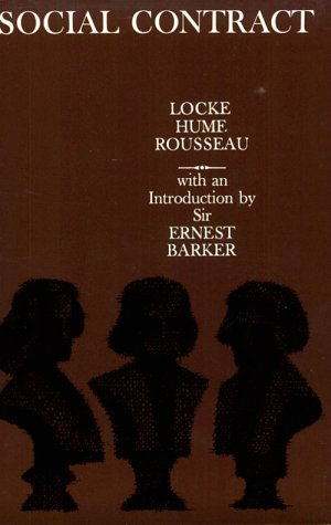 Social Contract: Essays by Locke, Hume, and Rousseau 9780195003093