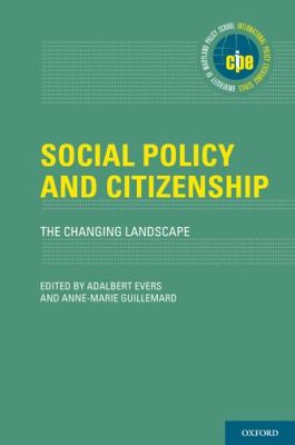 Social Policy and Citizenship: The Changing Landscape 9780199754045