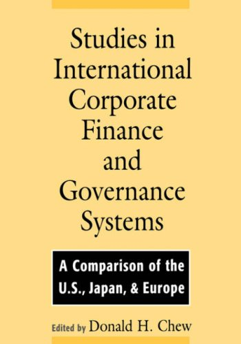 Studies in International Corporate Finance and Governance Systems: A Comparison of the U.S., Japan, and Europe 9780195107951