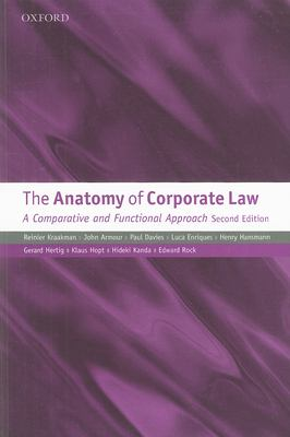 The Anatomy of Corporate Law: A Comparative and Functional Approach 9780199565849