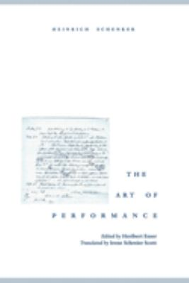 The Art of Performance 9780195151510