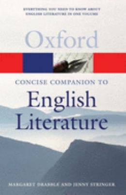 The Concise Oxford Companion to English Literature 9780199214921