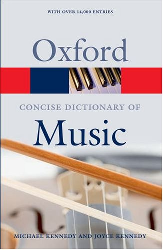 The Concise Oxford Dictionary of Music 9780199203833