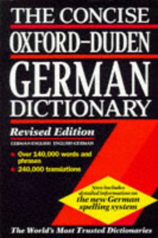 The Concise Oxford-Duden German Dictionary: English-German, German-English 9780198601333