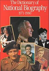 The Dictionary of National Biography: 9th Supplement: 1971-1980