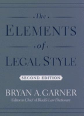 The Elements of Legal Style 9780195141627