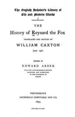 The History of Reynard the Fox 9780197222676