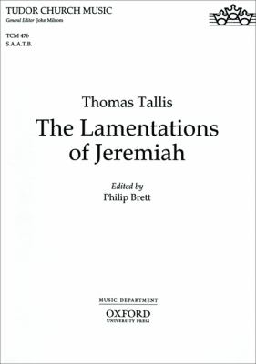 The Lamentations of Jeremiah: Saatb Vocal Score 9780193520974