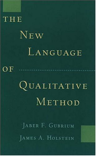 The New Language of Qualitative Method 9780195099942