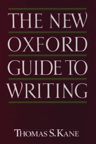 The New Oxford Guide to Writing 9780195090598
