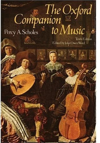 The Oxford Companion to Music 9780193113060