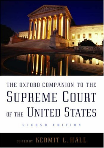 The Oxford Companion to the Supreme Court of the United States 9780195176612