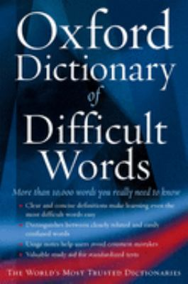 The Oxford Dictionary of Difficult Words 9780195173284