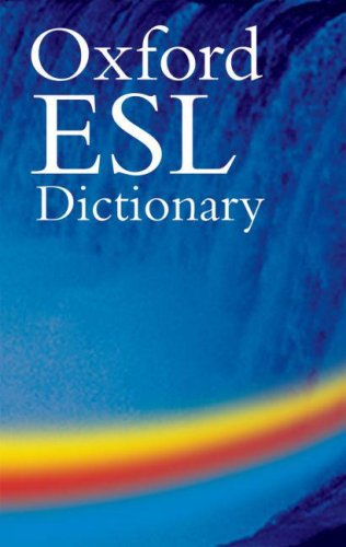 The Oxford ESL Dictionary [With CD-ROM] 9780194316286