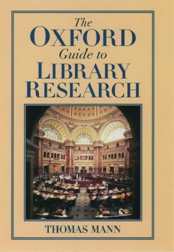 The Oxford Guide to Library Research 9780195123128