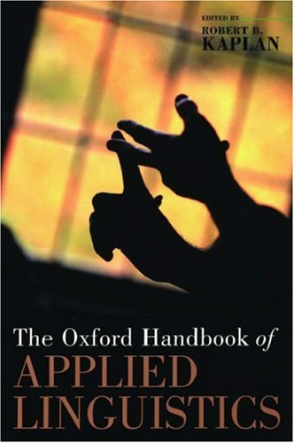 The Oxford Handbook of Applied Linguistics 9780195187915