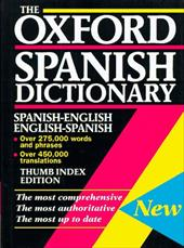 The Oxford Spanish Dictionary Spanish English English Spanish Thumb Indexed