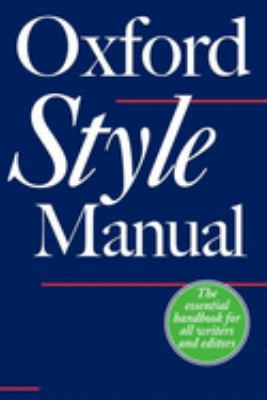 The Oxford Style Manual 9780198605645