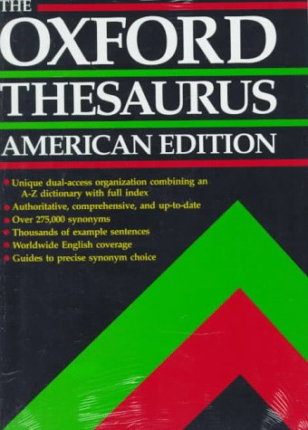 The Oxford Thesaurus: American Edition 9780195073546