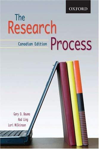 The Research Process: 1/Cdn/E 9780195426151
