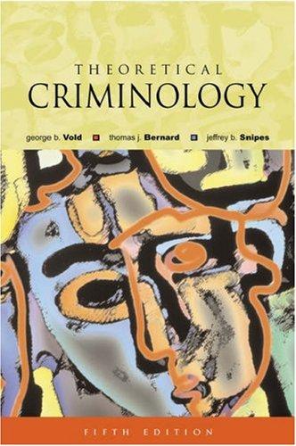 Theoretical Criminology 9780195142020