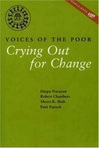 Crying Out for Change: Voices of the Poor 9780195216028