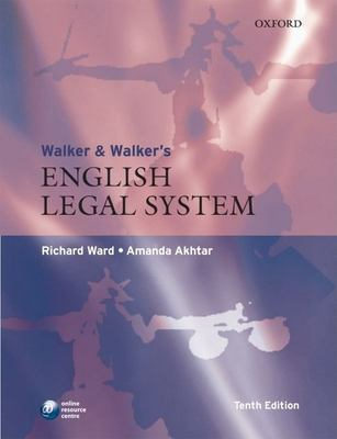 Walker & Walker's English Legal System 9780199214877