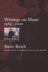 Writings on Music, 1965-2000 541384