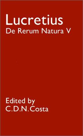 de Rerum Natura: V 9780198144571