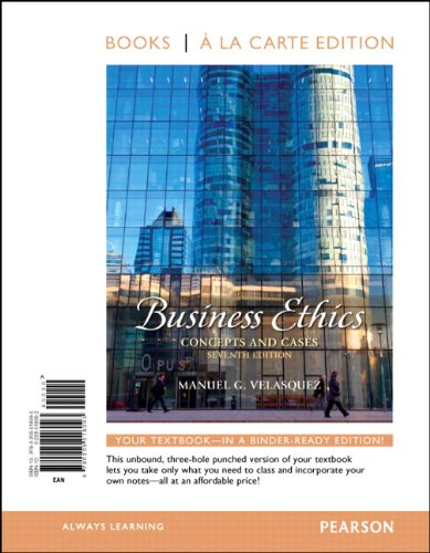 Business Ethics: Concepts and Cases 9780205018093