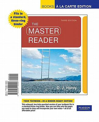 The Master Reader, Books a la Carte Edition 9780205110025