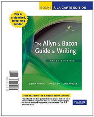 The Allyn & Bacon Guide to Writing, Brief Edition 9780205114306
