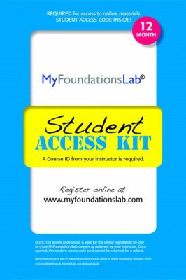Myfoundationslab Student Access Kit: 12 Month 9780205187690