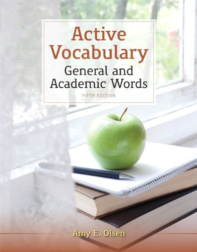 Active Vocabulary: General and Academic Words 9780205211906