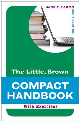 The Little, Brown Compact Handbook with Exercises 9780205217519