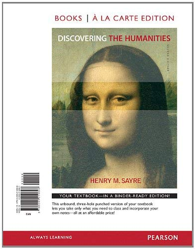 Discovering the Humanities, Books a la Carte Edition 9780205219698