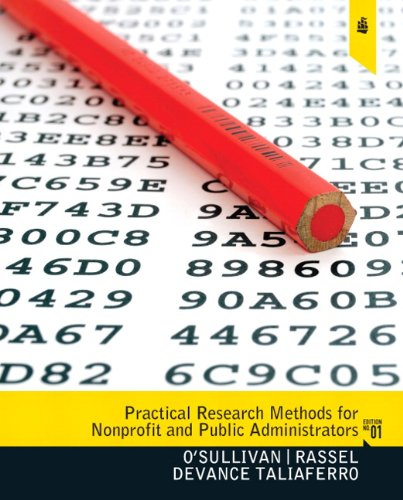 Practical Research Methods for Nonprofit and Public Administrators 9780205639465