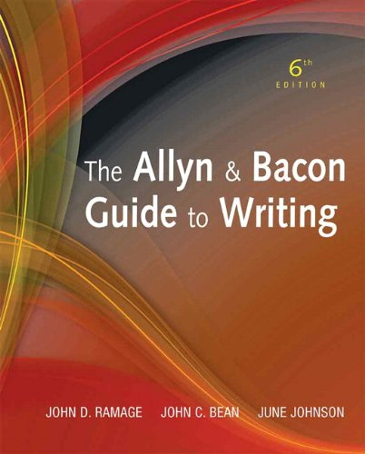 The Allyn & Bacon Guide to Writing 9780205721481